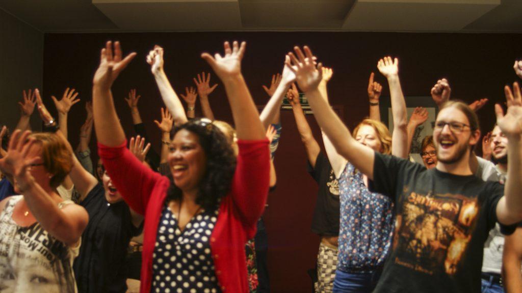 Foto muzikale workshop voor particulieren gegeven door Muziekeducatie ROBB